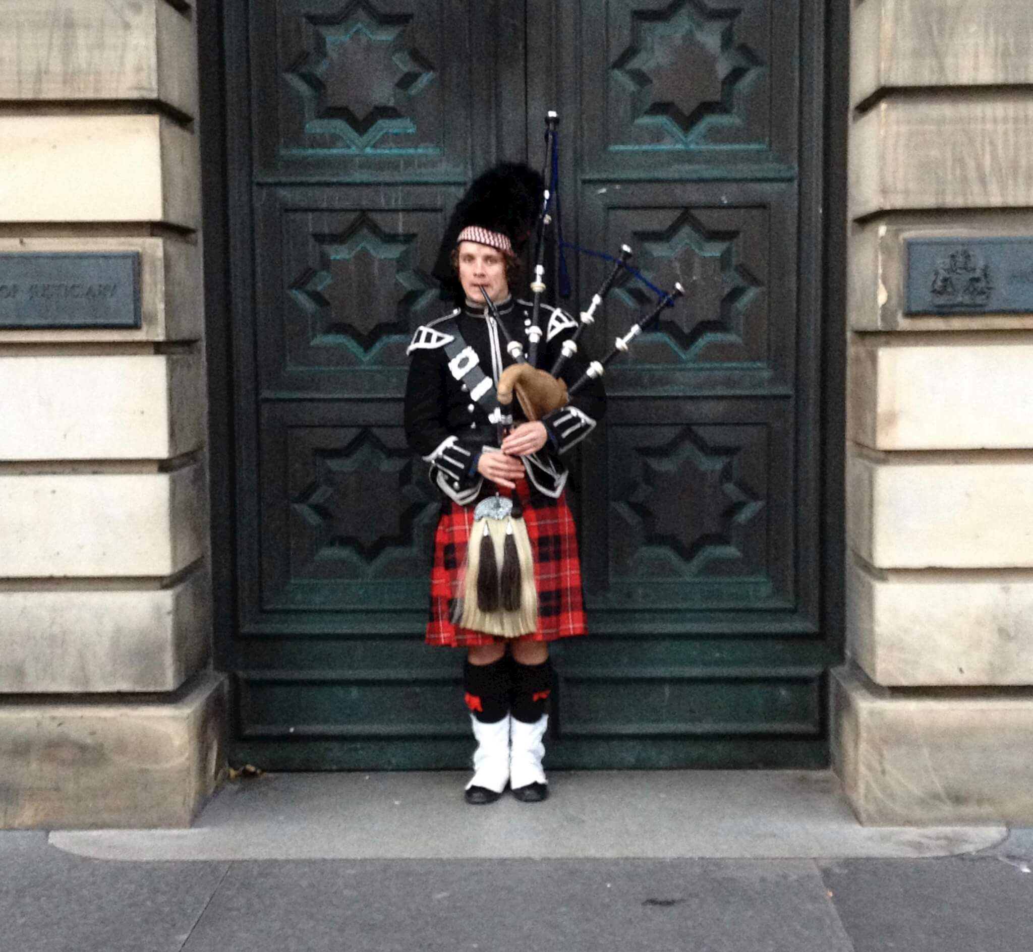 He probably didn't buy those bagpipes on Craigslist