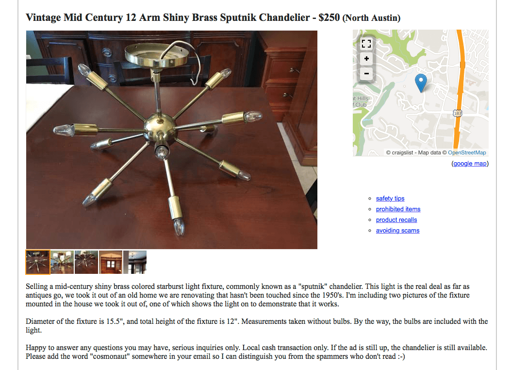 Sputnik on Craigslist