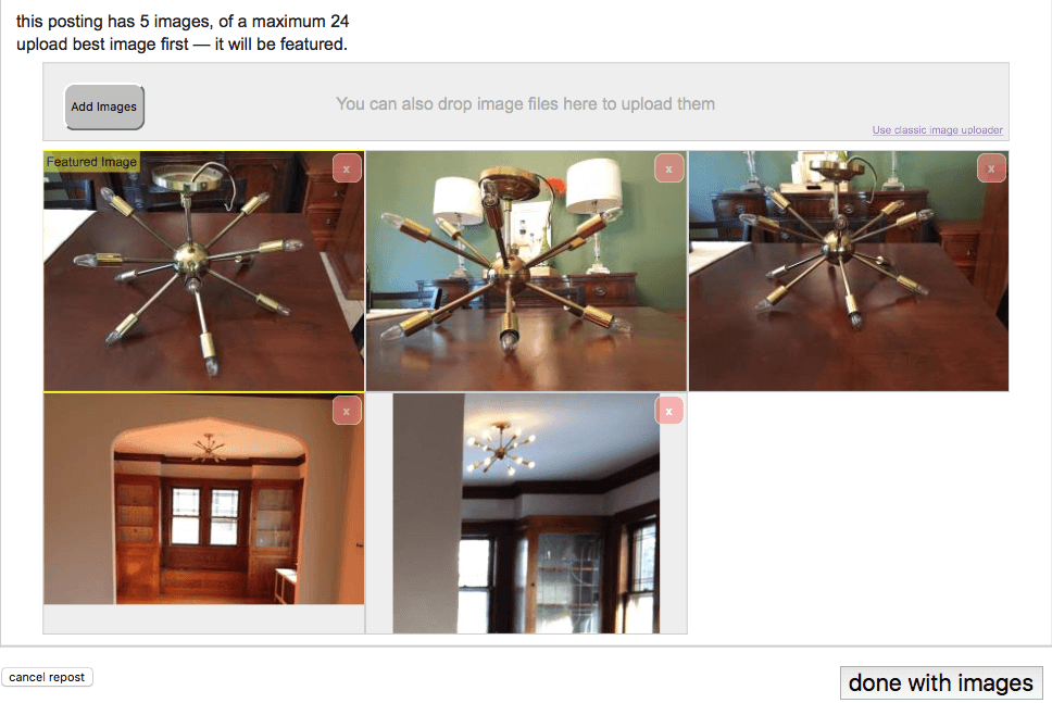 Even Craigslist tells you to pick the best picture