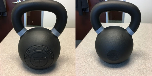 Kettlebell Reviews 2017 - Rep Fitness Kettlebells Review 40kg Kettlebell Front and Back