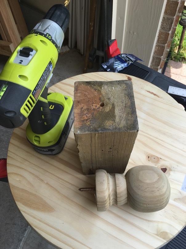 wobble board scrap wood post