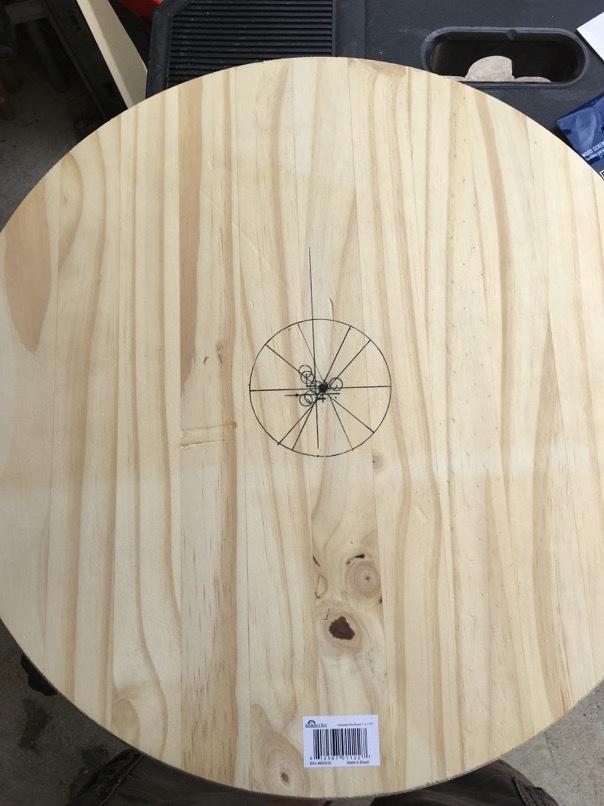 wobble board find the center