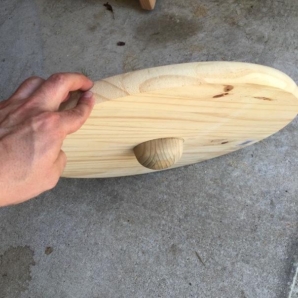 wobble board finish underside