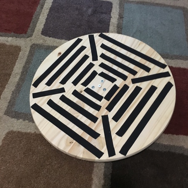 wobble board with tape finish