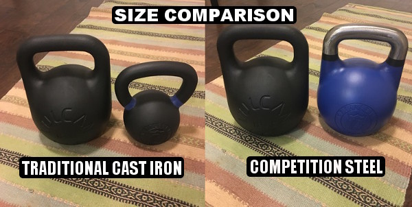 Vulcan Absolute Training Kettlebell size comparison
