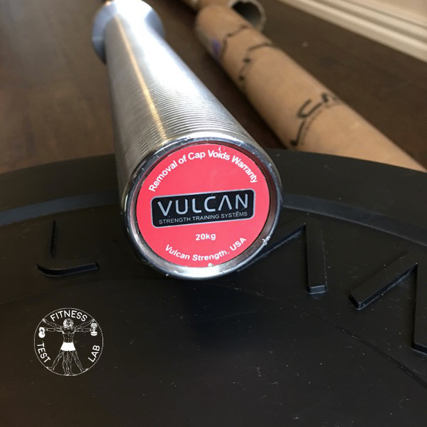 Vulcan Absolute Powerlifting Bar Review - Sleeve Endcap