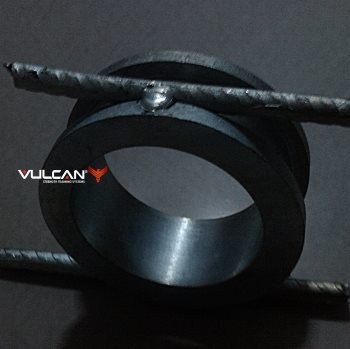 Vulcan Black Bumper Plate Review - bumper plate insert welded with rebar