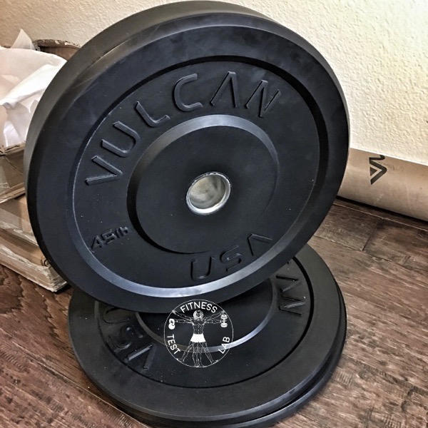 Vulcan Black Bumper Plates Review - 45lb Bumper Plate - Face