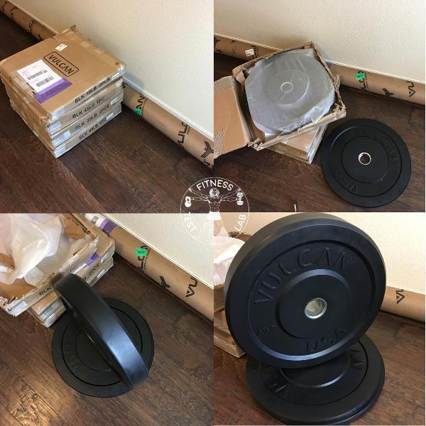 Vulcan Black Bumper Plates Review - Bumper Plate Unboxing