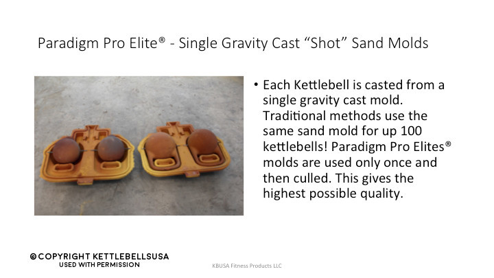Kettlebells USA Paradigm Pro Elite Review - Single Shot Sand Molds