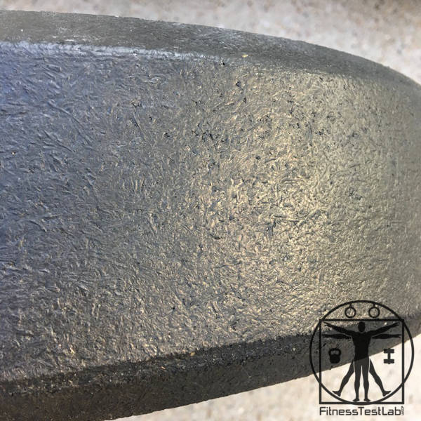 Rogue Hi Temp Bumper Plates Review - 45lb texture up close
