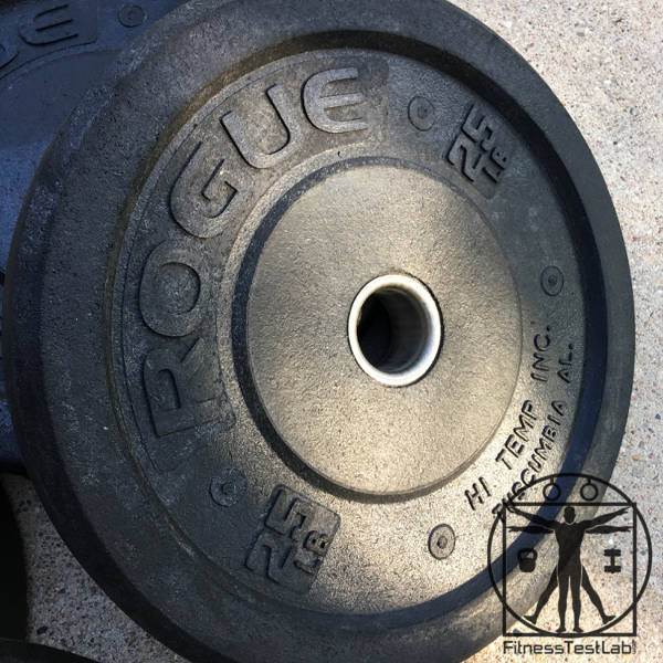 Rogue Hi Temp Bumper Plates Review - recessed collar