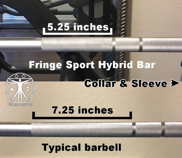 Fringe Sport Hybrid Bar Review - Short Knurl Near Center
