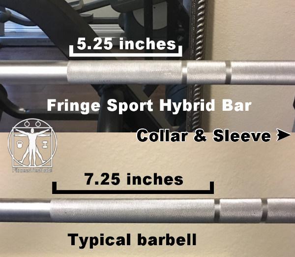Fringe Sport Hybrid Bar Review - Short Knurl Near Center