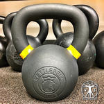 Kettlebell Kings Review - Powder Coat Kettlebell Review - Recessed Logo