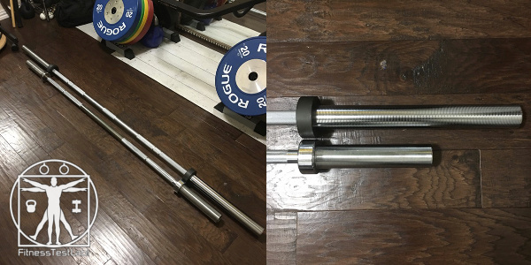 Best Short Barbells for Home Use - Troy Barbell 6 ft Olympic Chrome Bar Review - Size Comparison