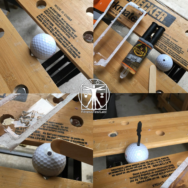 DIY Impact Massager - Drilling and Gluing the Impact Element (Golf Ball)