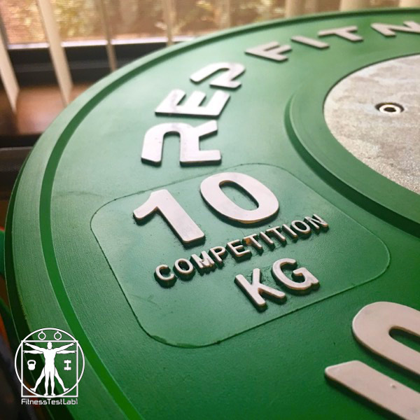 Rep Fitness Competition Bumper Plates Review - Raised Lettering and Inner Ring