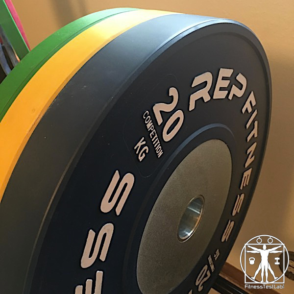 Rep Fitness Competition Bumper Plates Review - Side View