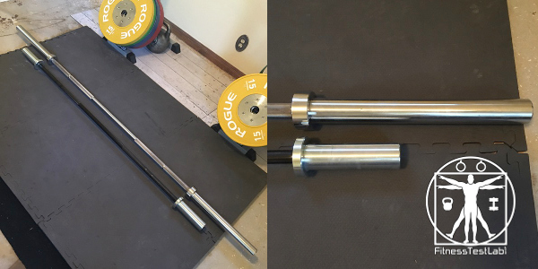 Best Short Barbells for Home Use - Rogue Junior Bar Review - Size Comparison