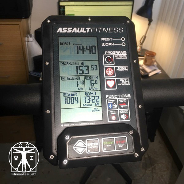 Assault Fitness Air Runner Review - Console View