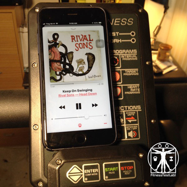 Assault Fitness Air Runner Review - Phone Blocking the Console