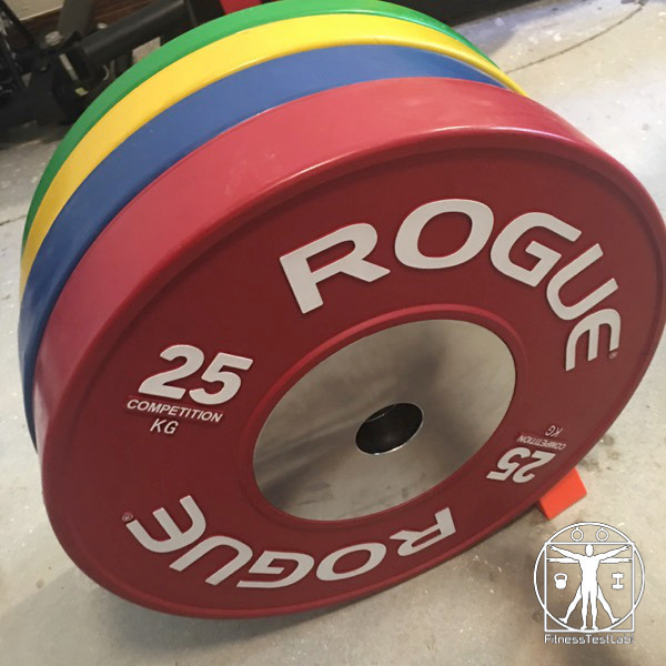 Rogue Fitness Competition Bumper Plates Review - Front Facing