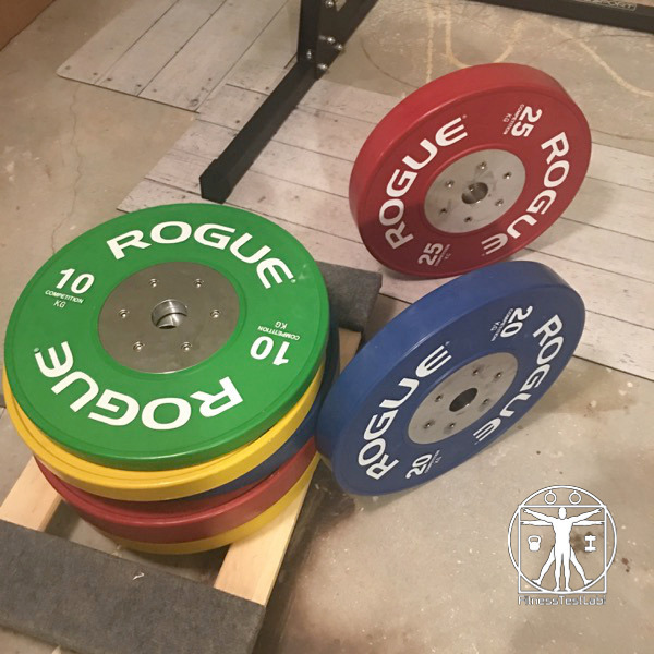 Rogue Fitness Competition Bumper Plates Review - Loaded on Cart