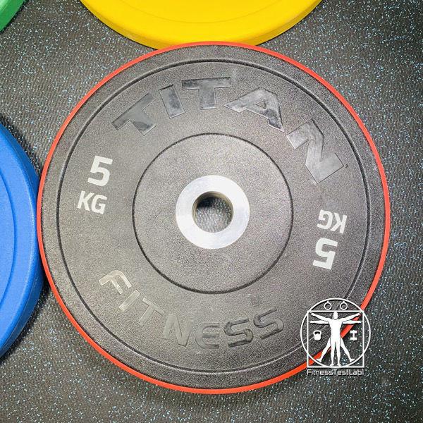 Titan Fitness Urethane Bumper Plates Review - 5KG Plate Smaller Diameter