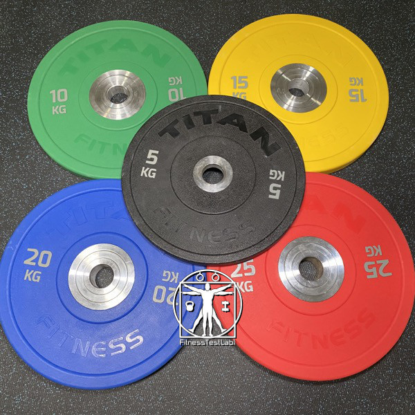 Titan Fitness Urethane Bumper Plates Review - Colorful Plates