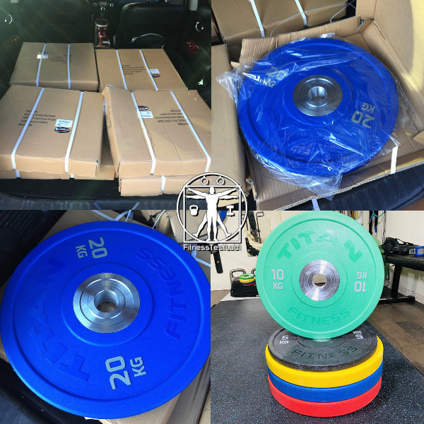 Titan Fitness Urethane Bumper Plates Review - Unboxing