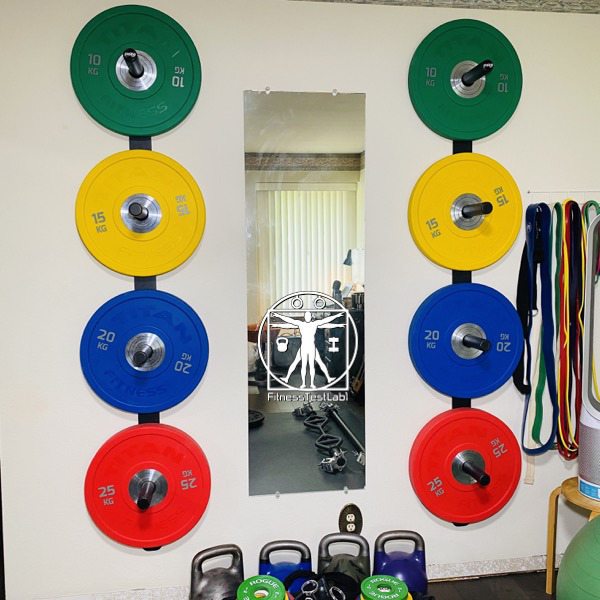 Titan Fitness Urethane Bumper Plates Review - Wall Storage