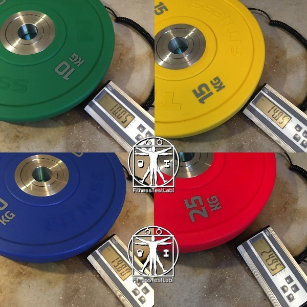 Titan Fitness Urethane Bumper Plates Review - Weight Tolerances Within Specified Range