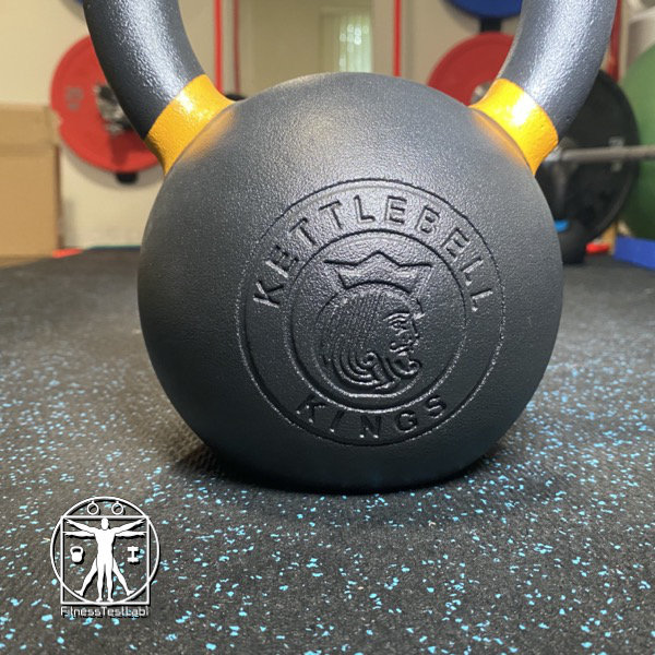Best Kettlebells Review - 2020 Kettlebell Kings Powder Coat Review - Recessed Logo