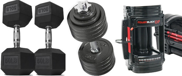 Home Gym Essentials - Dumbbell Types
