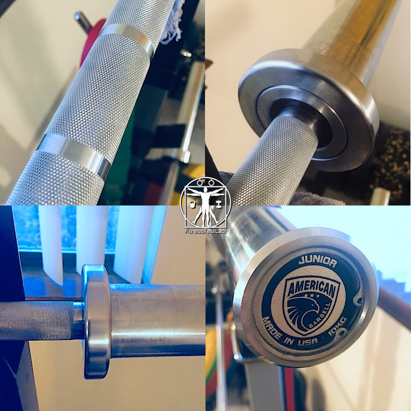 Best Short Barbells for Home Use - American Barbell Performance Training Bar Review - Knurl, Collar, and Sleeve