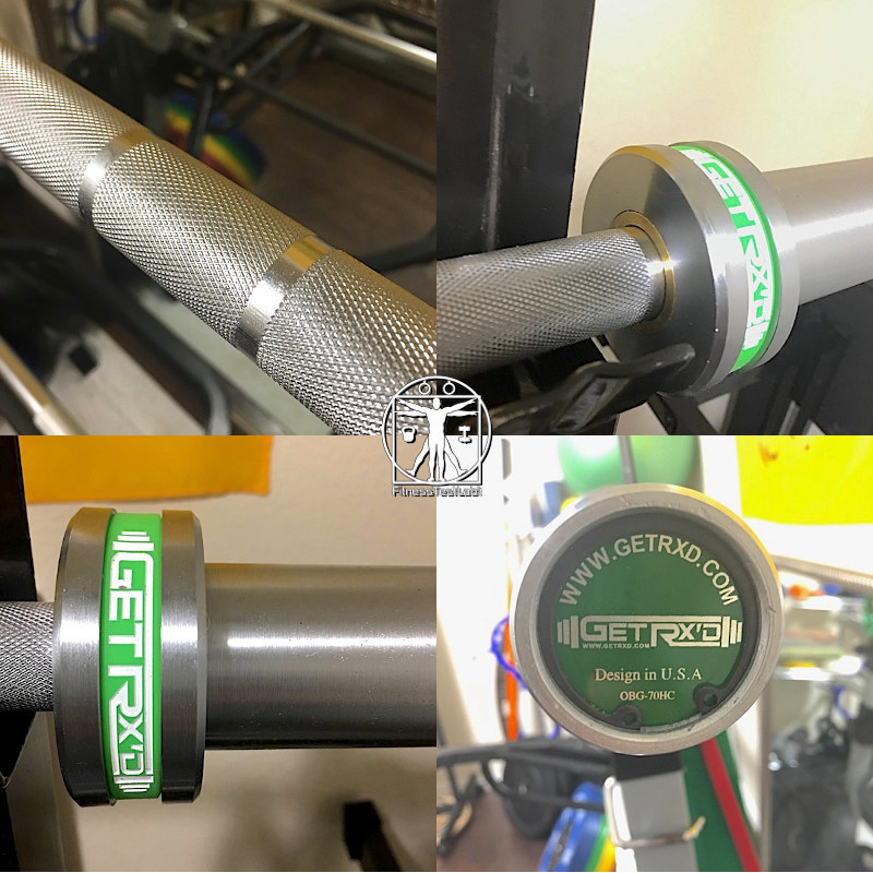 Best Short Barbells for Home Use - GetRXd Shorty Bar Review - Knurling and Sleeves