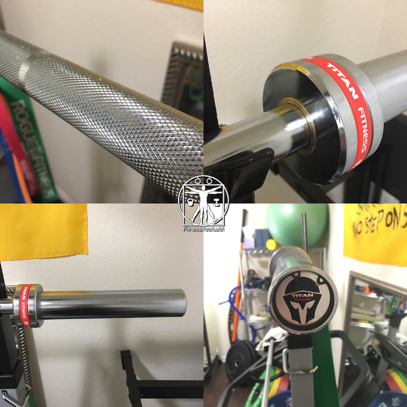 Best Short Barbells for Home Use - Titan 6ft Technique Olympic Bar Review - Knurling and Sleeves