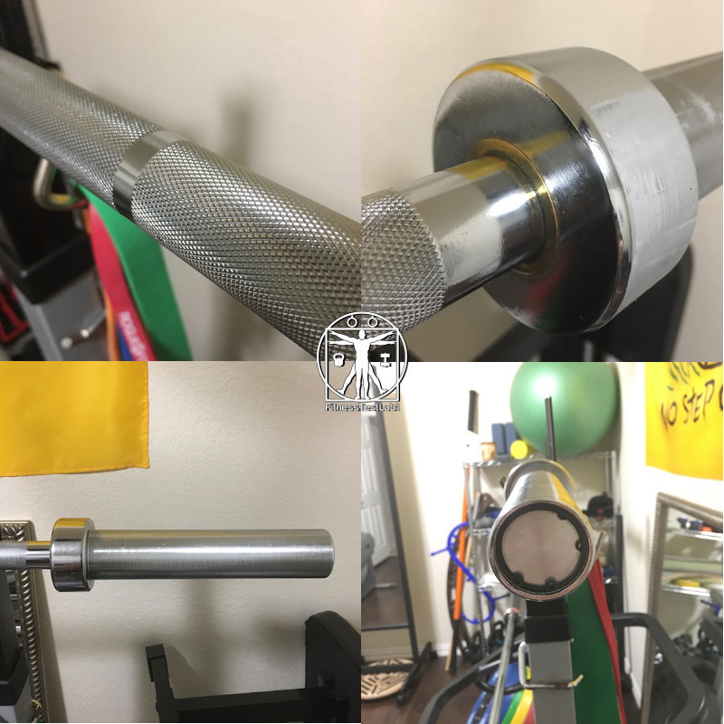 Best Short Barbells for Home Use - Troy Barbell 6 ft Olympic Chrome Bar Review - Knurling and Sleeve