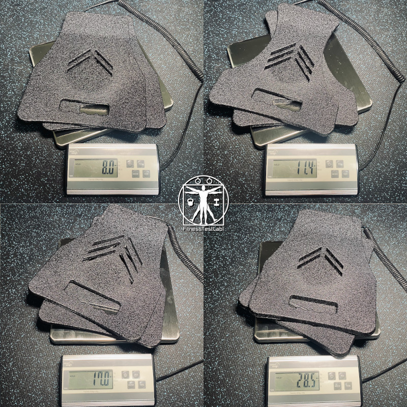 Best Weight Vests for Home Fitness - CATI Armor Ergonomic Fitness Plates - All Sizes Weighed As Pairs